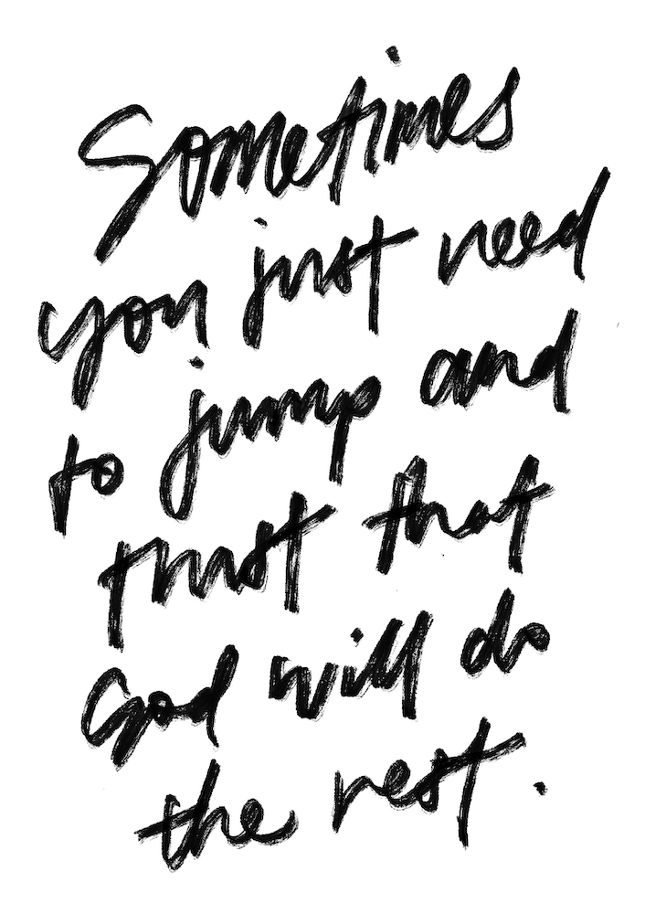 Christian Quotes Powerful Faith Sometimes You Just Need to Jump and Trust that God will Do the Rest Inspirational Quote