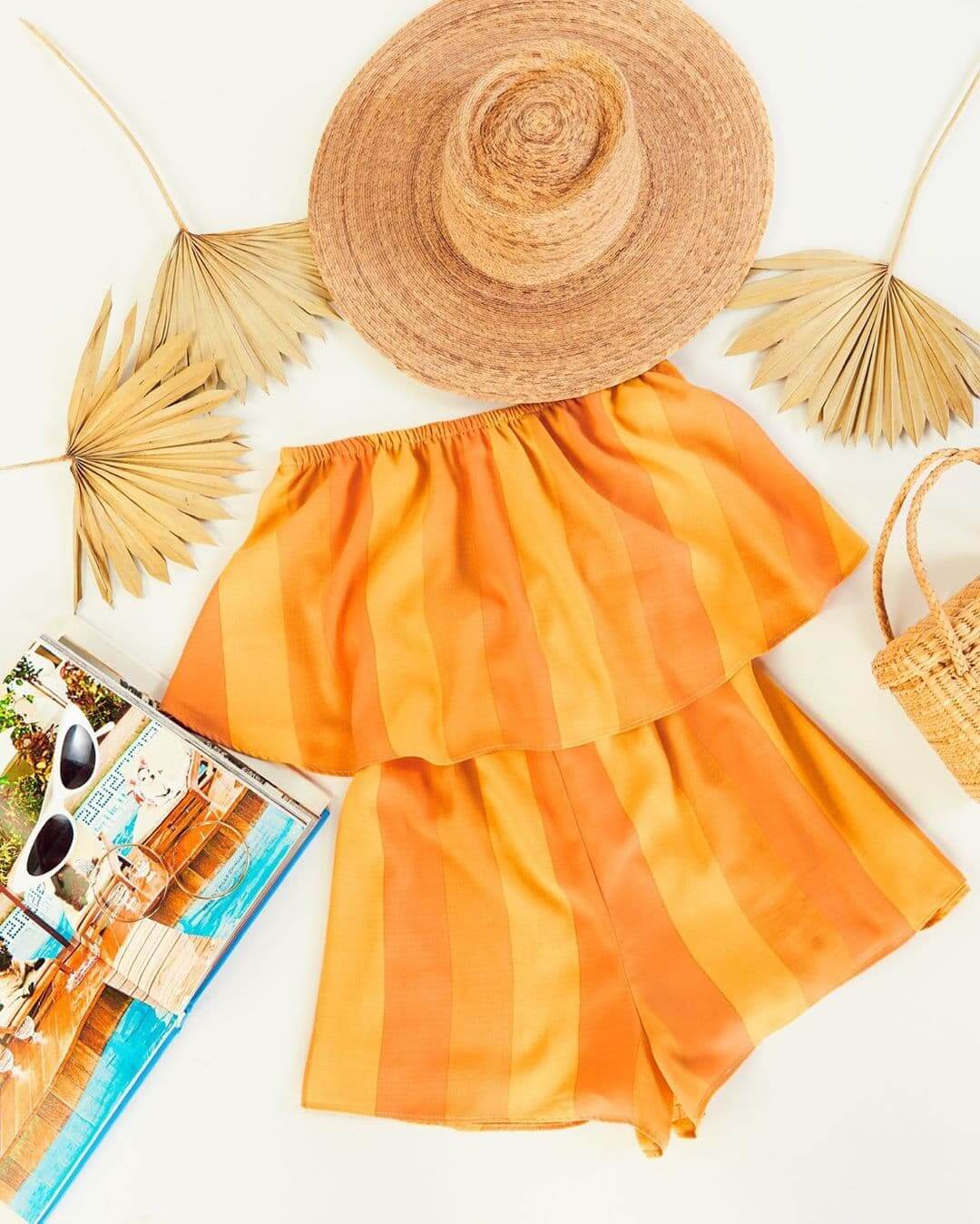 Summer Outfits Sundresses Beach Casual Sunkissed Stripe Orange Romper Playsuit Show Me Your Mumu (1)