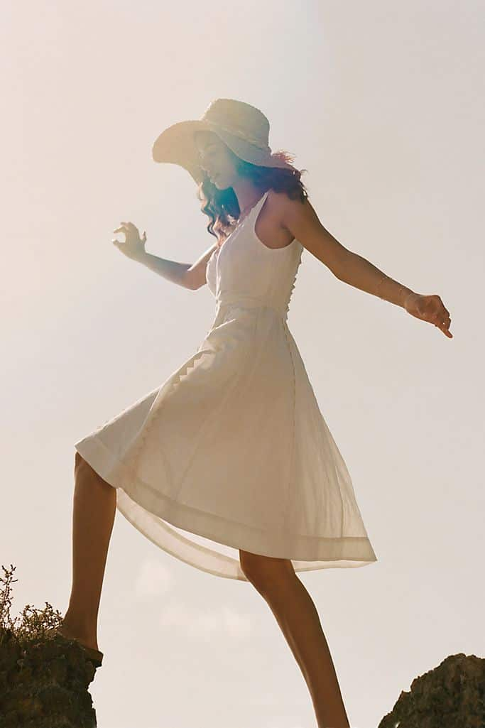 Summer Outfits Sundresses Beach Casual White Dress Cotton Anthropologie